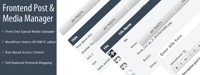 Frontend Post and Media Manager plugin new version released
