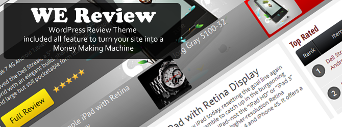 WeReview – WordPress Review Theme
