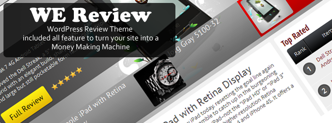 WeReview - WordPress Review Theme v1.3.1 released