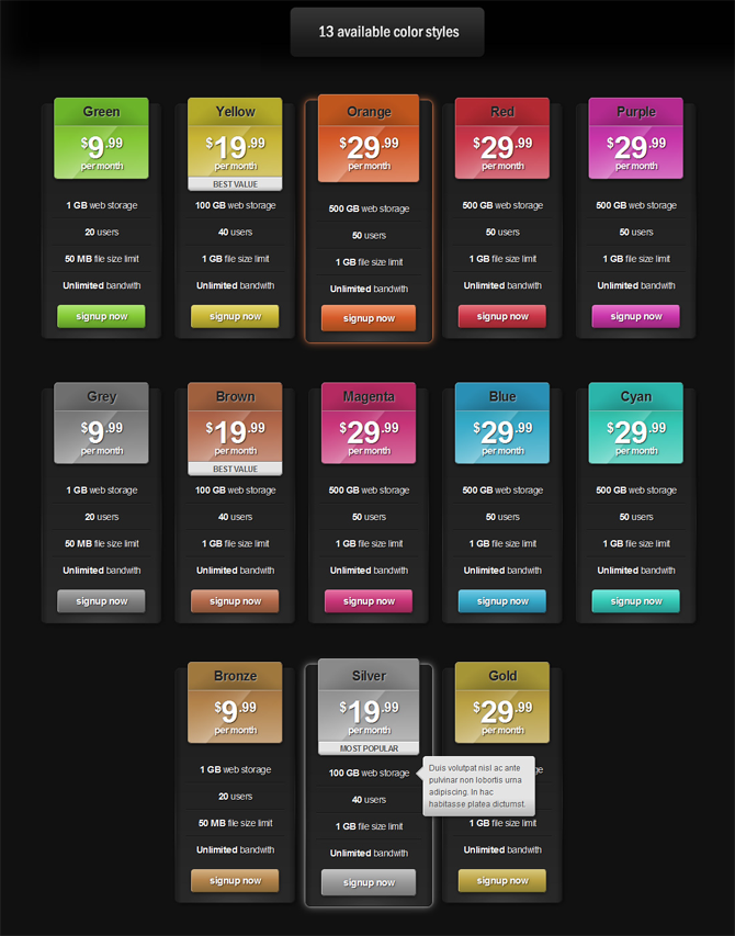 WordPress Pricing Table, New Template for all pro users - from v2.7.0