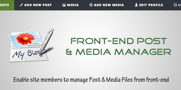 Frontend Post and Media Manager