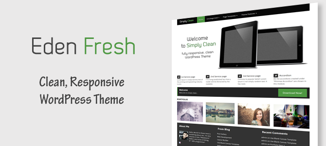 Eden Fresh - Responsive Corporate WordPress Theme