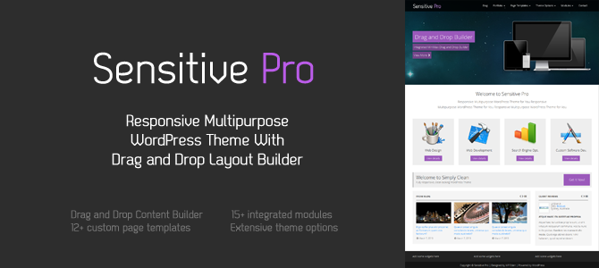 Sensitive Pro - Responsive Multipurpose WordPress Theme