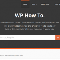 WPHowTo -  WordPress Wiki Theme