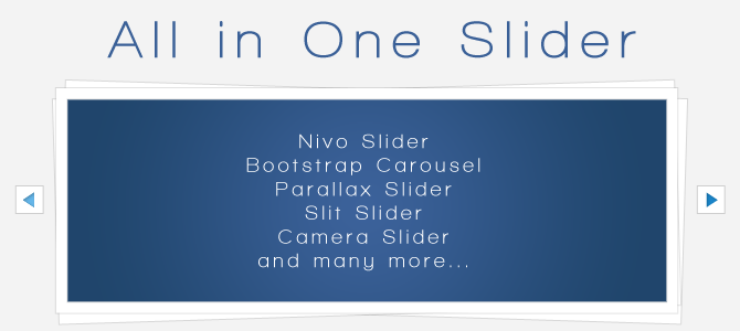 All in One Slider
