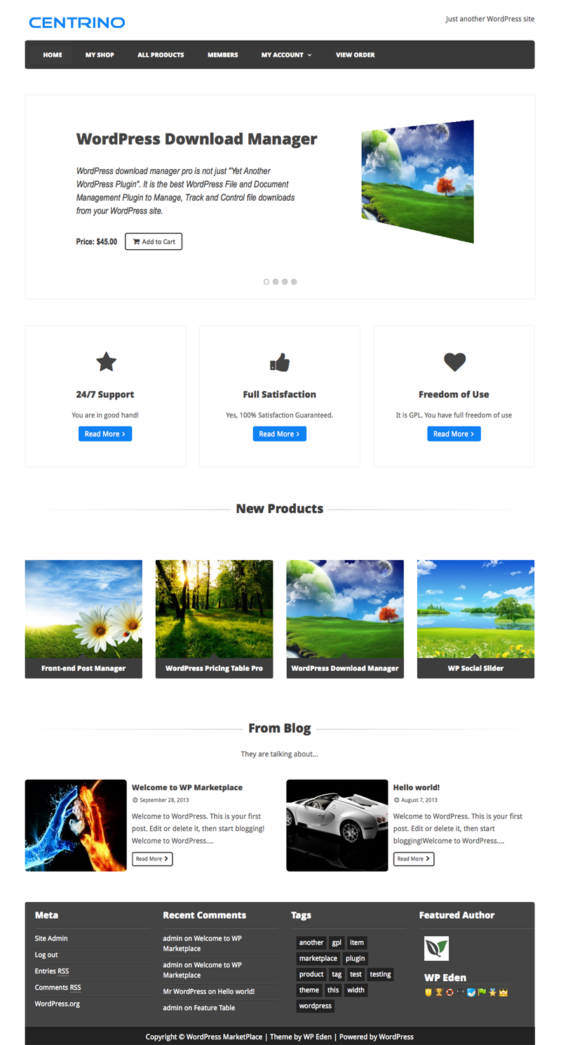 Centrino - WordPress eCommerce Theme