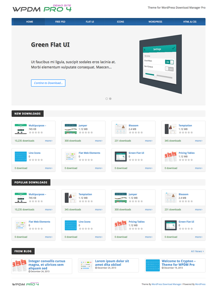 Crypton - Theme for WordPress Download Manager