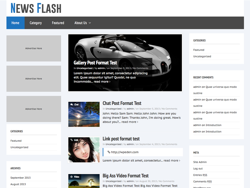 News Flash - Responsive WordPress Theme
