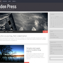Eden Press - Responsive WordPress Blog Theme